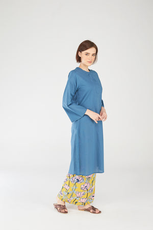 Fatimah Tunic in Ink Blue