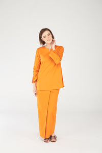 Noriza Top in Tangerine