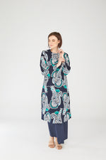 Fatiha Tunic Top in Blue