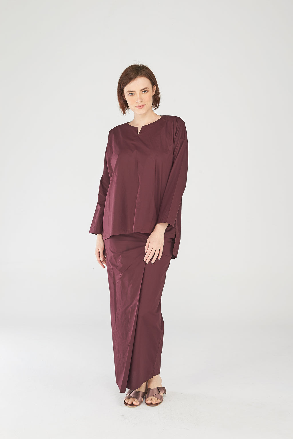 Nazirah Top in Maroon