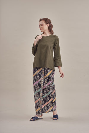 Azizam top in Army Green