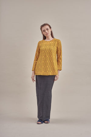 Aleena Lace Top in Mustard