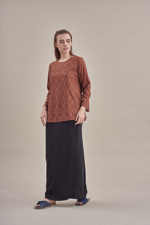Aleena Lace Top in Brown