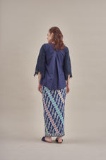 Keladi lace top Dark blue