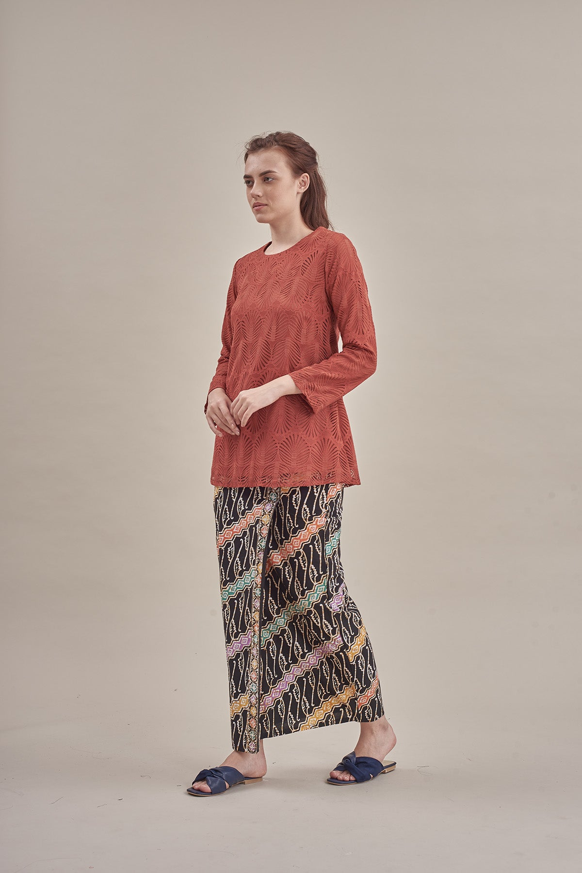 Palm Lace Top in Terracota
