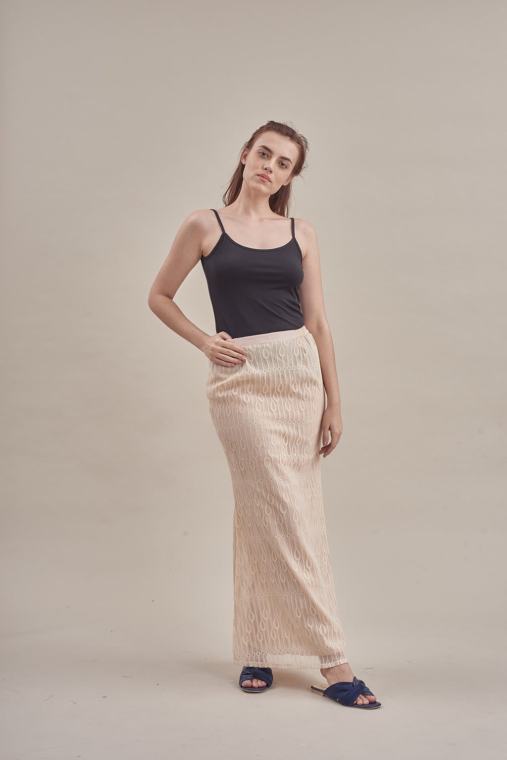 Skirt - Jalur in Cream