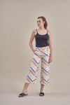 Zig Zag Pants in White