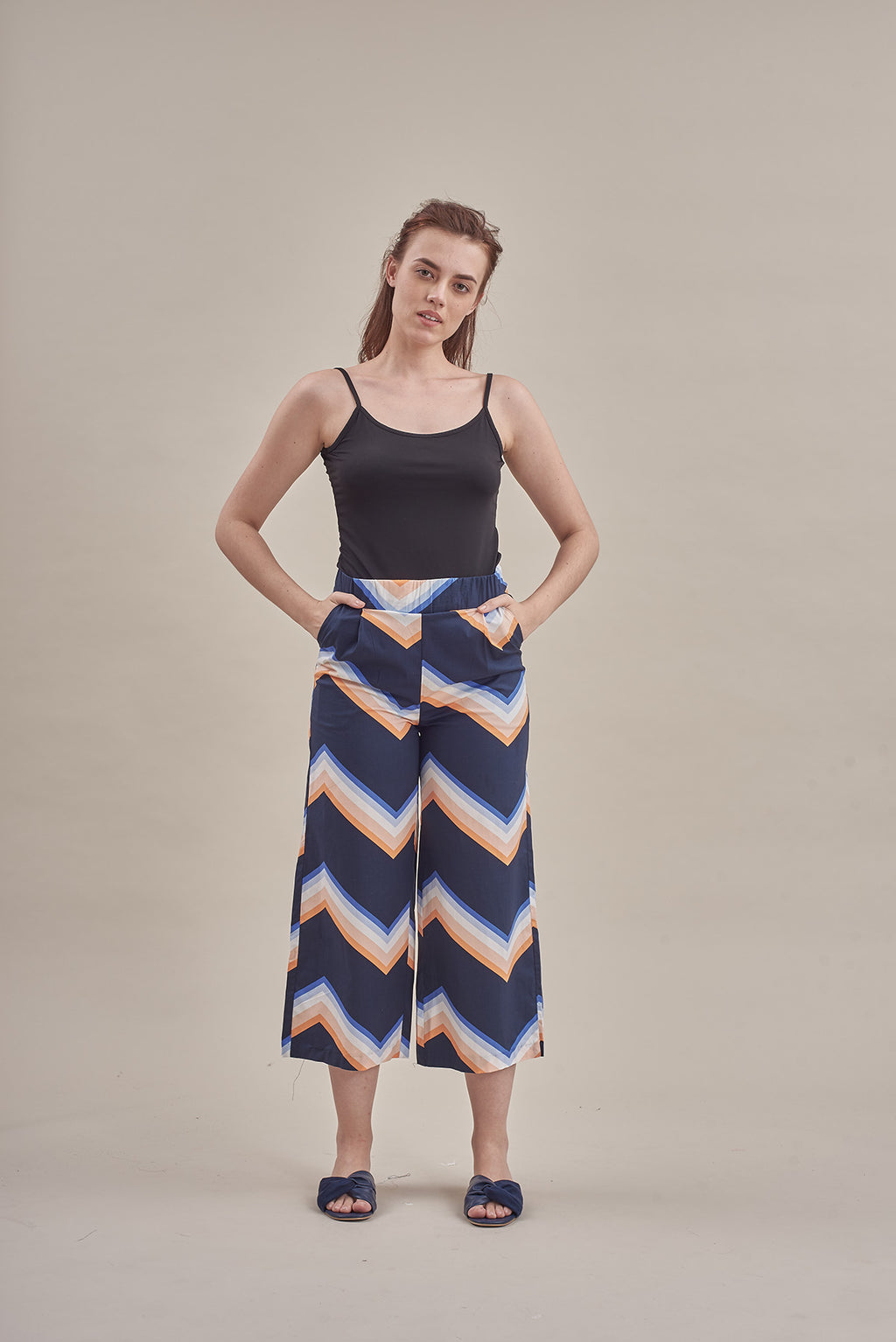 Zig Zag Pants in Blue