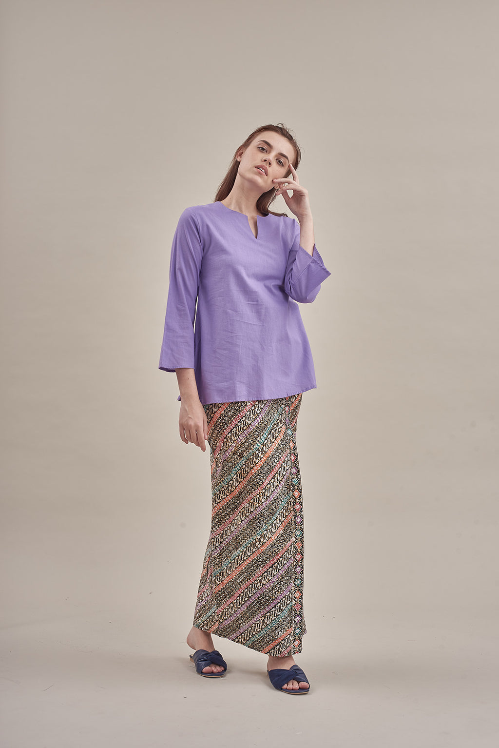 Norlida Top in Lavender