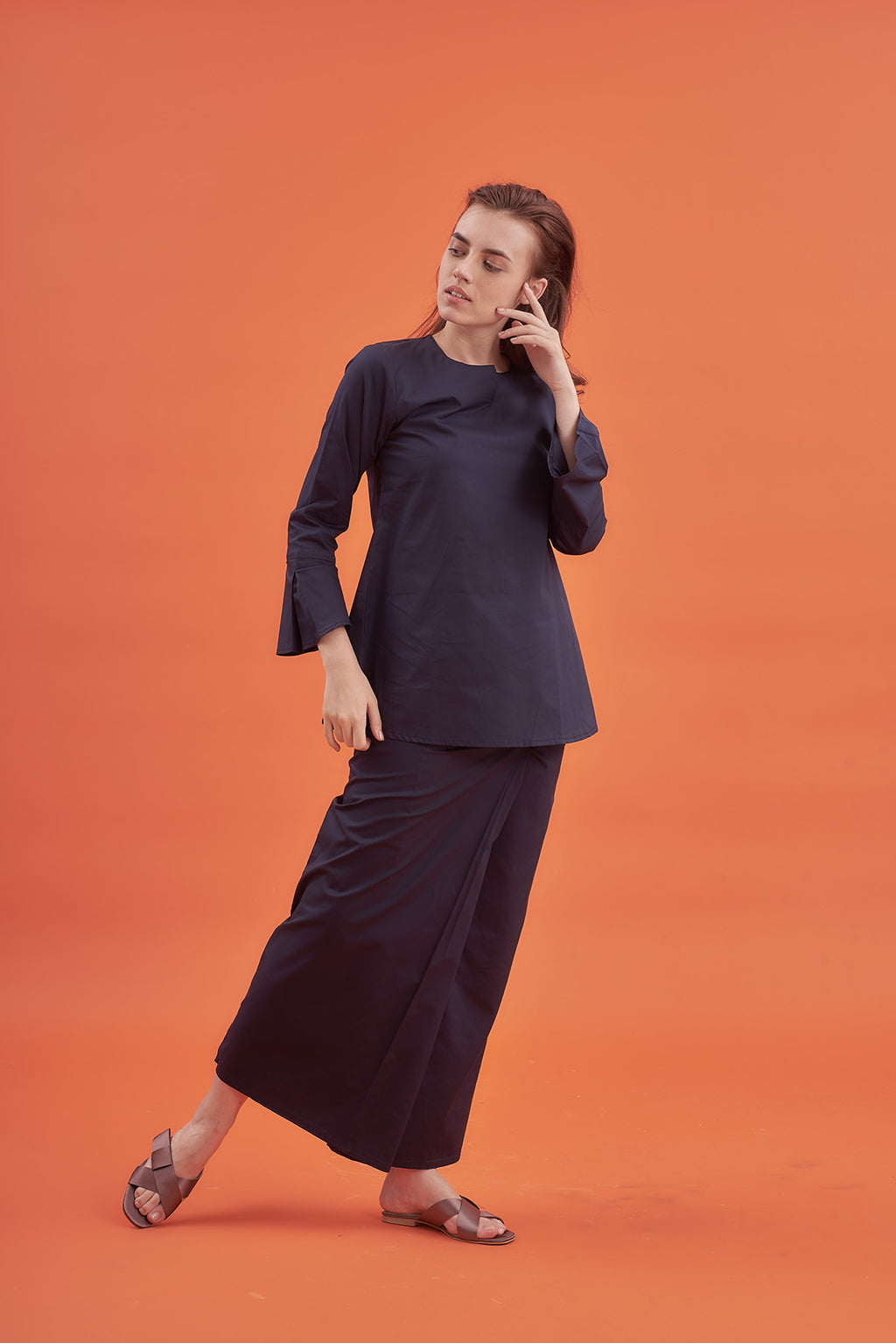 Noriza Top in Dark Blue