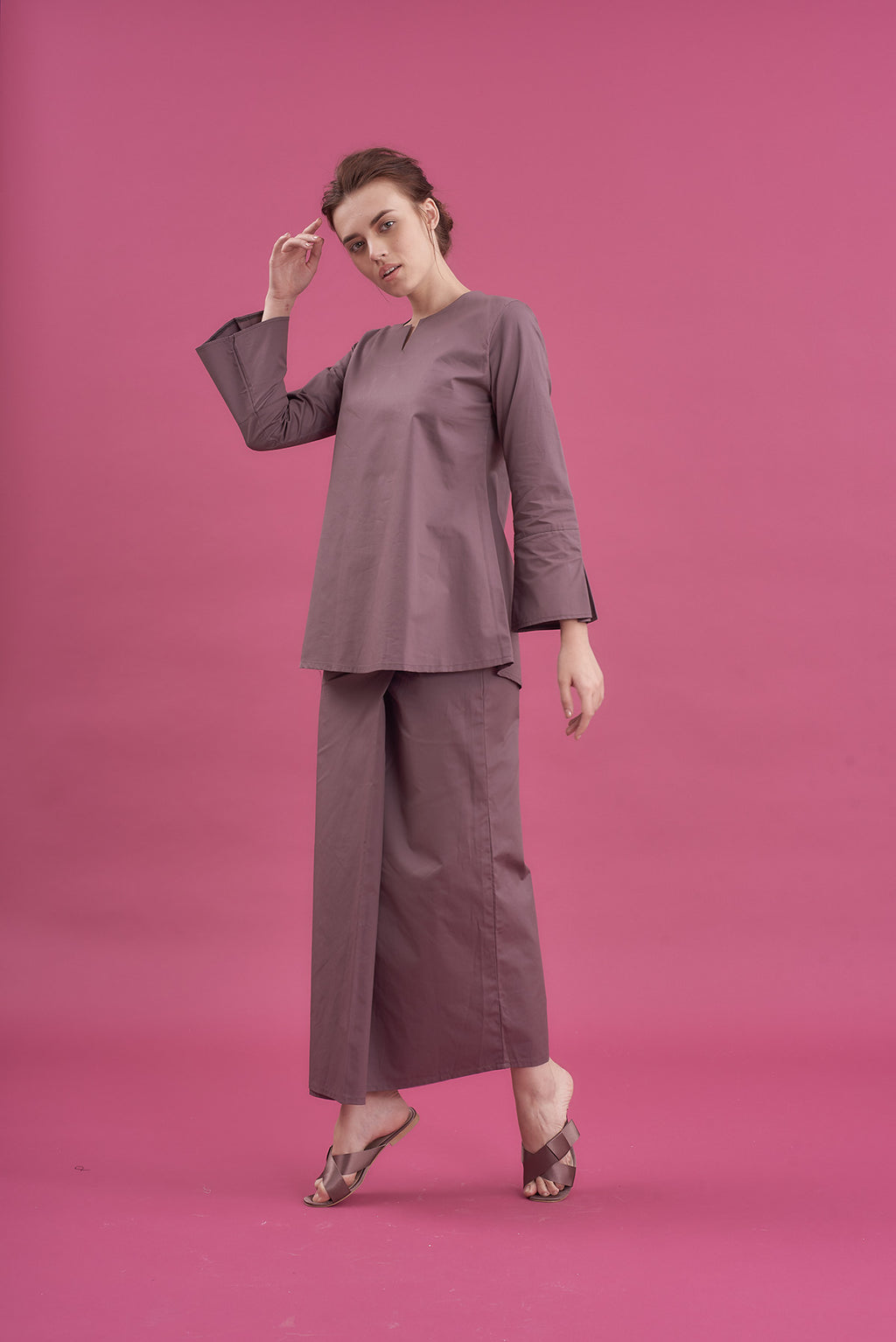 Noriza Top in Purplish Grey
