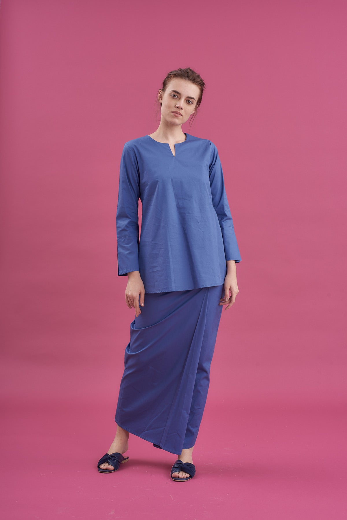 Noriza Top in Blue