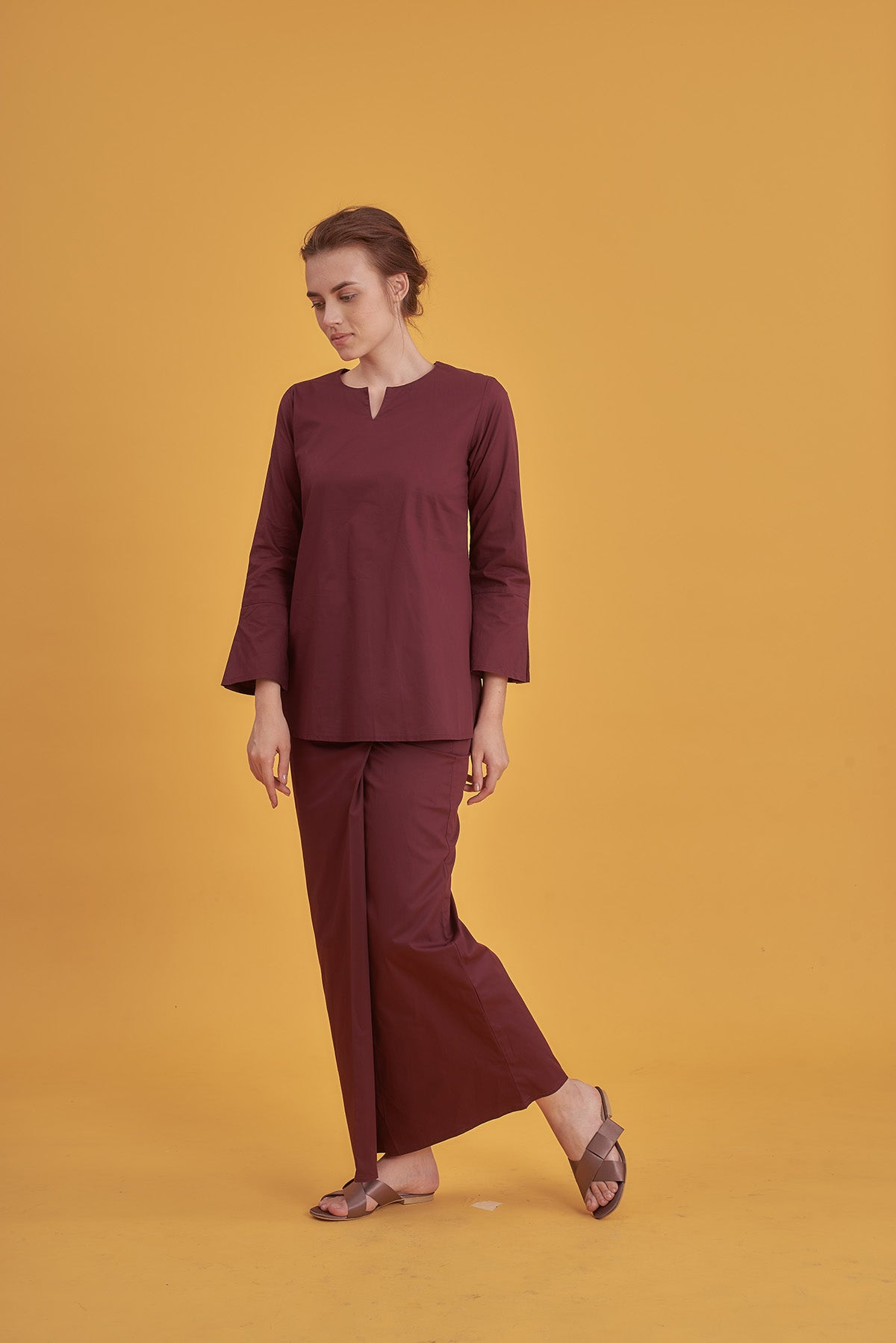 Noriza Top in Maroon