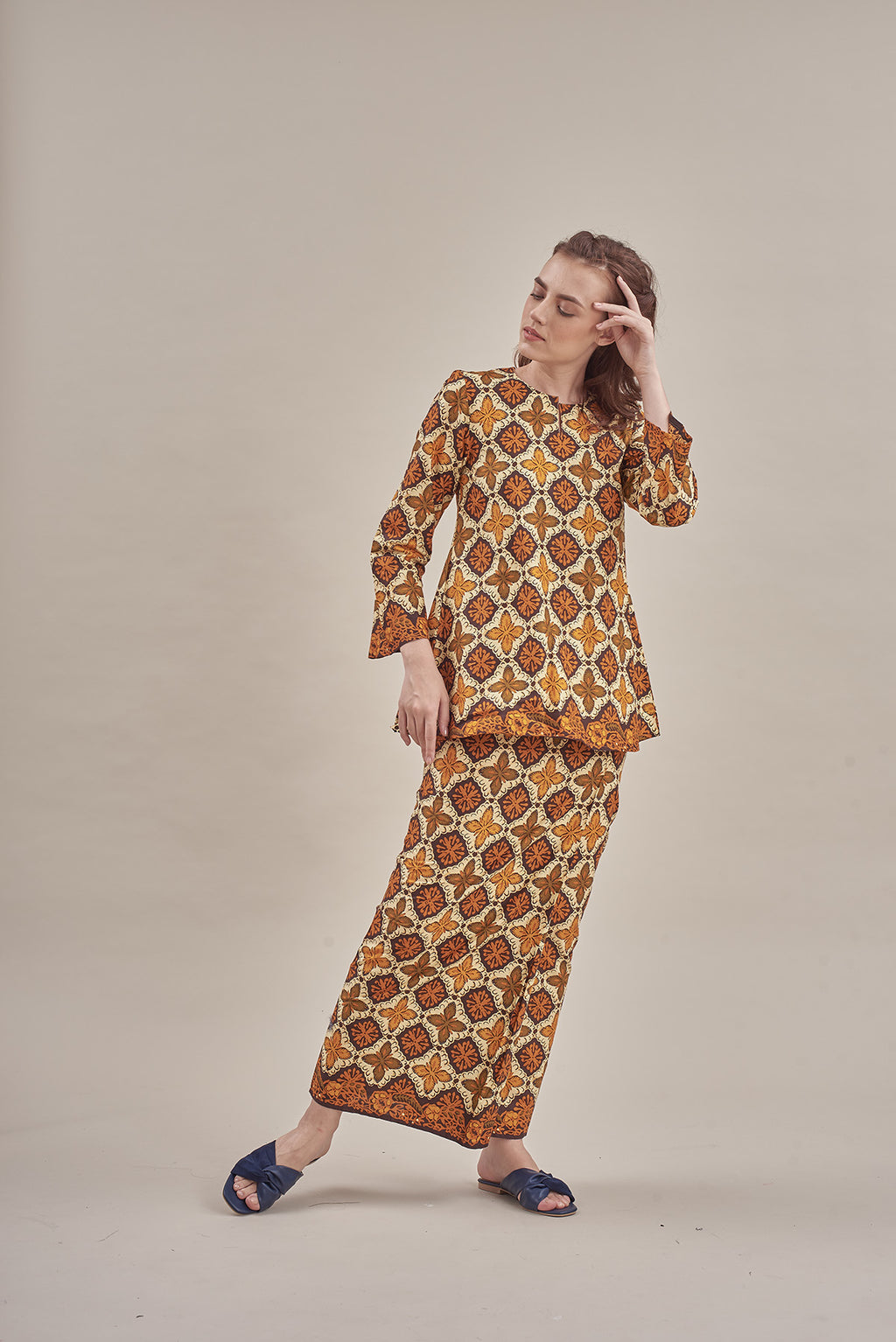 Widuri Top in Yellow