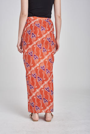 SARUNG Anati in Orange Purple