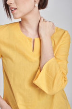 Norlida Top in Royal Yellow