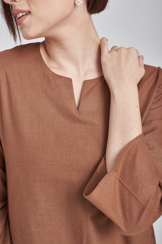 Norlida Top In Brown