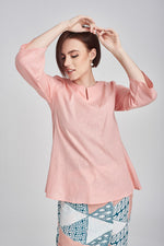 Norlida Top In Peach
