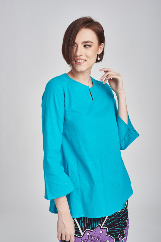 Norlida Top in Turquoise