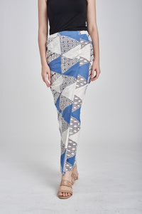 Sarung Segitiga in Blue & Grey
