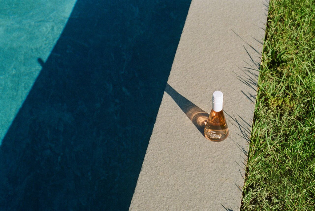 can old wine make you sick: wine at the side of a pool