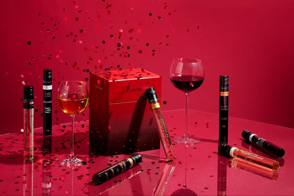 Gifts for wine lovers: Vinebox 12 nights of wine bottles