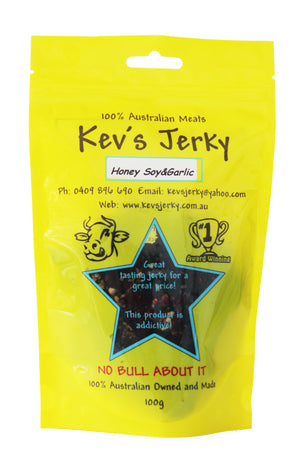 Honey soy&garlic Beef Jerky  100g
