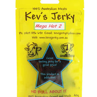 Mega Hot 2  Beef Jerky 40g bag