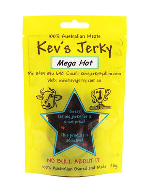 Mega Hot Beef Jerky 40g bag