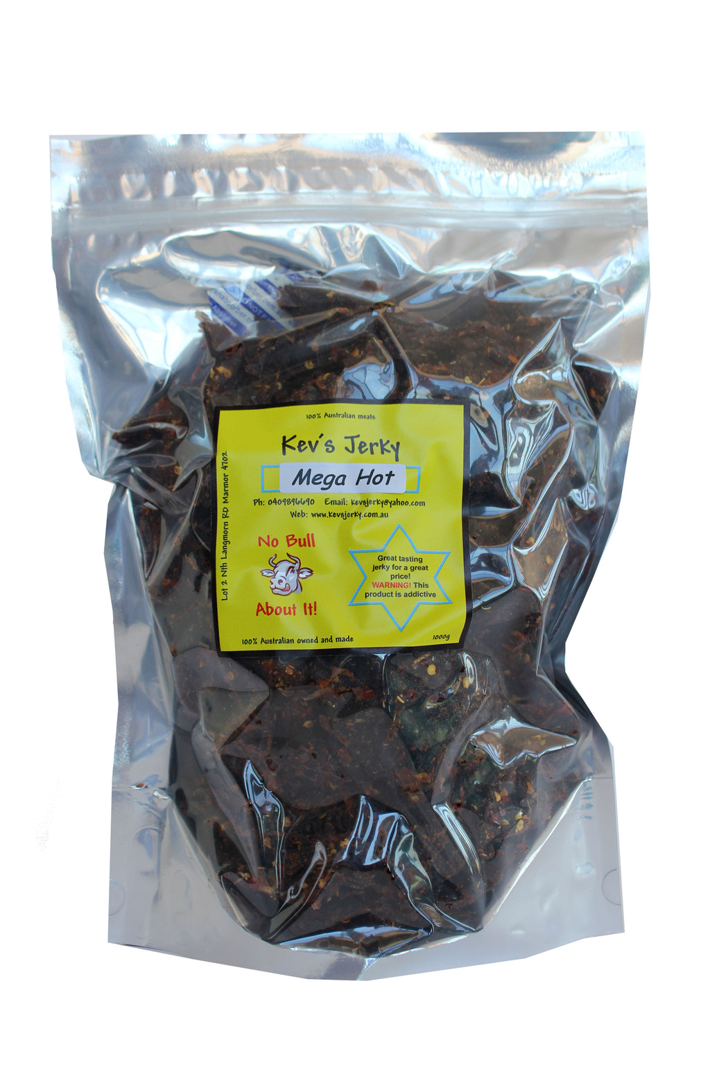 Mega Hot  Beef Jerky 1000g bag