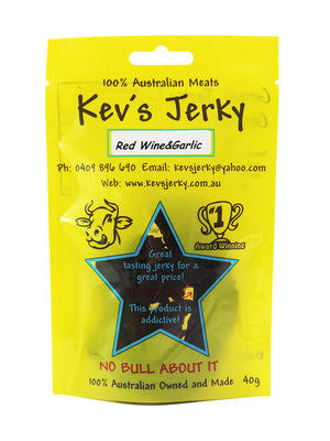 Red Wine&Garlic  Beef Jerky 40g bag