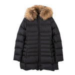 <WOMEN><br>Mid Down Coat w/Fin Raccoon Fur