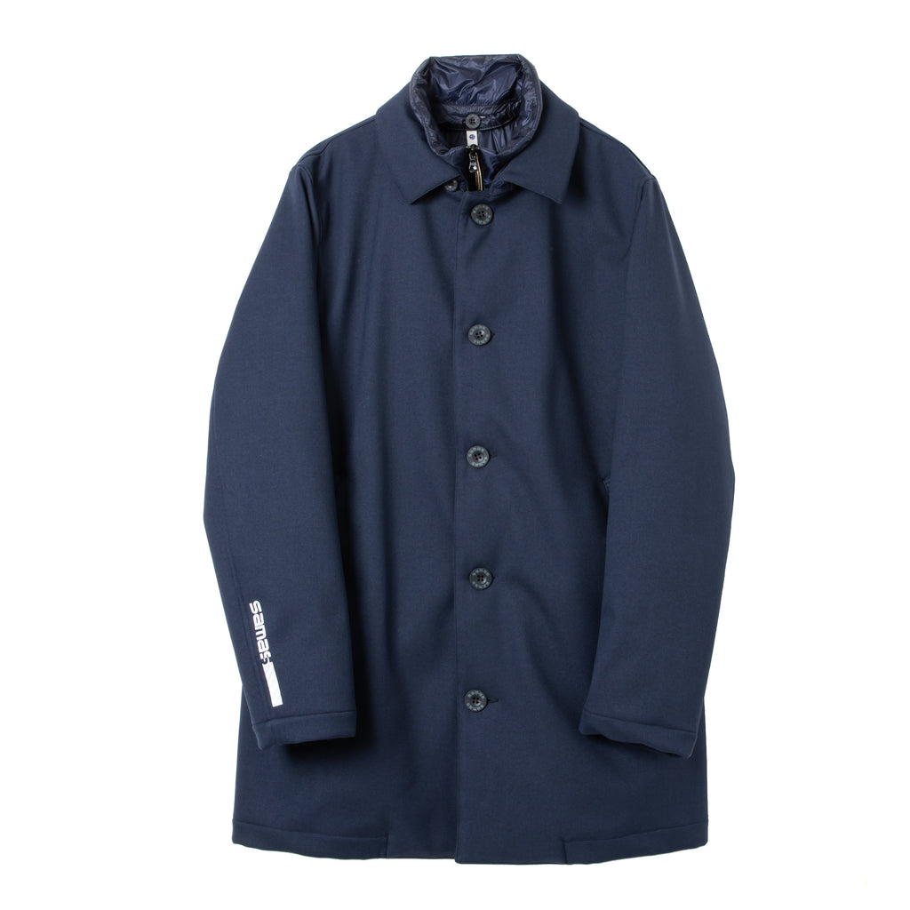 <MEN><br>Down Soutien Collar Coat w/Gilet