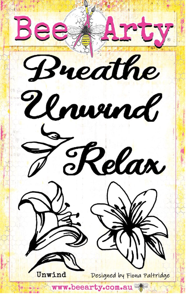 Colour Blast by Bee Arty stamp set - Unwind