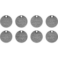Tim Holtz idea-ology - Halloween Quote tokens