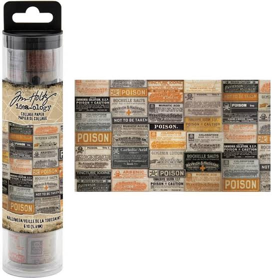 Tim Holtz Idea-Ology - Halloween Collage Paper 6yds