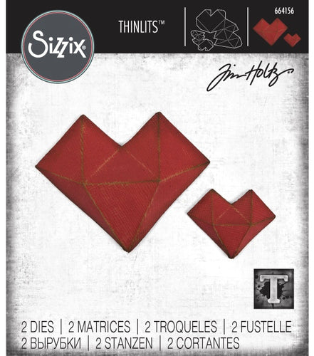 Tim Holtz Alterations thinlits dies - Faceted heart