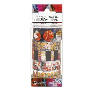 Dina Wakley washi tape- set 2 (warm colours)