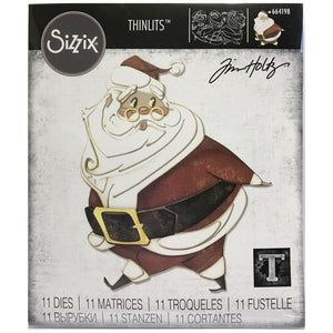 Tim Holtz Alterations thinlits colorize dies - Jolly St. Nick