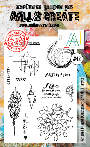 AALL&Create stamp set #48 - by Aida Domisiewicz