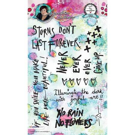 Art by Marlene signature collection stamp - Storms don't last forever