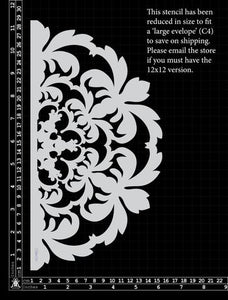 Kinder Kreations - Damask wheel stencil