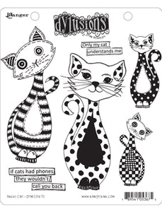 Dylusions Cling Stamp - Puddy cat