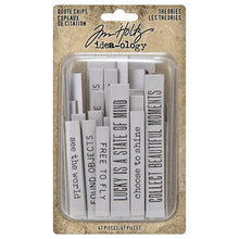 Tim Holtz idea-ology - Quote chips: Theories
