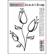 Darkroom Door stamp 118mm x 80mm - Fresh buds