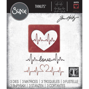 Tim Holtz Sizzix thinlits dies - Heartbeat