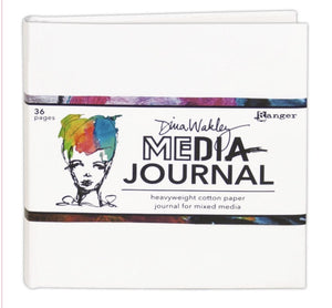 "Dina Wakley 6""x6"" white journal"
