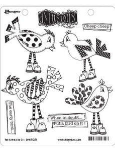 Dylusions Cling Stamp - Put a bird on it