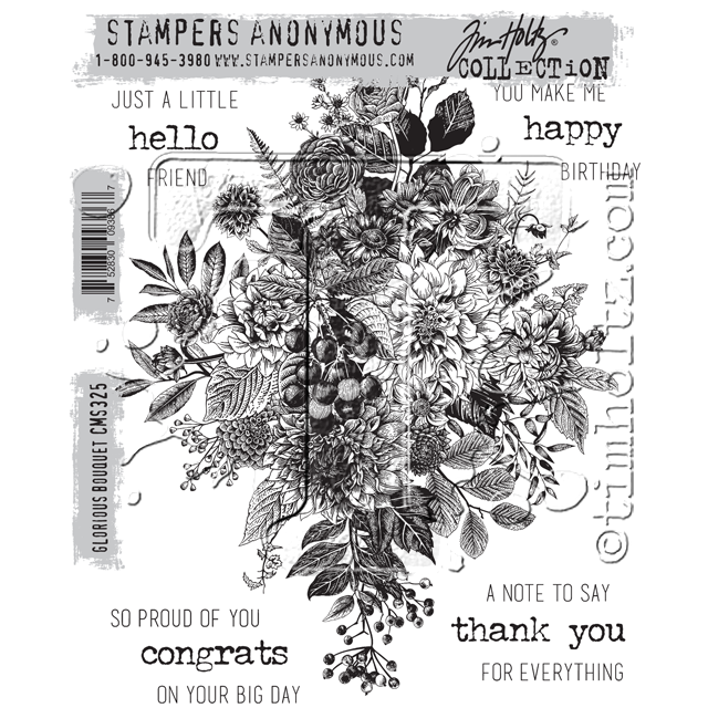 Tim Holtz Stampers anonymous - Glorious Bouquet
