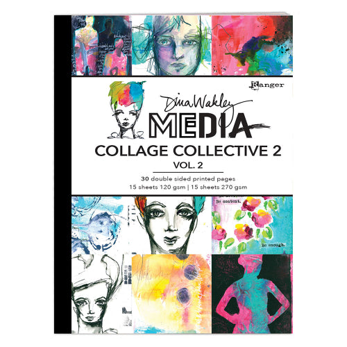 Dina Wakley Media Collage collective 2 - Volume 2